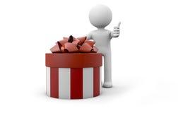Человек с подарком Стоковая Фотография RF