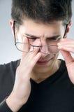 Человек с проблемой зрения Стоковые Фотографии RF