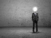 Человек с светильник-головкой Стоковое Изображение RF