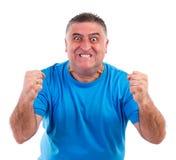 Человек с слабонервным кризисом Стоковое фото RF