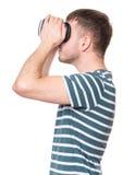 Человек с стеклами VR Стоковое фото RF