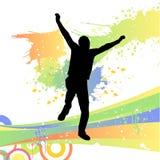 человек танцы Стоковые Изображения RF