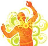 человек танцы иллюстрация вектора