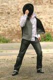 человек танцы Стоковое фото RF