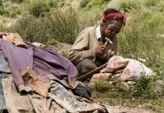 человек Тибет Стоковое Изображение