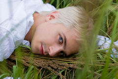 человек травы Стоковые Изображения