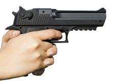 человек удерживания руки пушки Стоковое Изображение RF