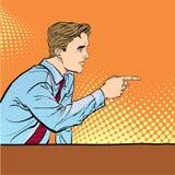 Человек указывая палец Человек объясняя что-то говорить человека Человек на подиуме говорит Красивые детеныши иллюстрация вектора