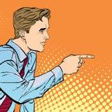 Человек указывая палец Человек объясняя что-то говорить человека Человек на подиуме говорит Красивые детеныши иллюстрация штока