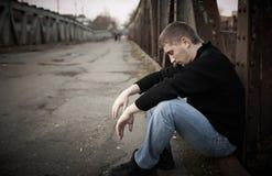 человек унылый Стоковое Фото