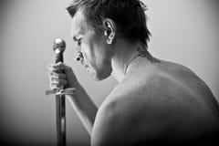 человек утюга Стоковая Фотография RF