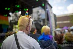 Человек фестиваля гордости LGBT стоковые изображения rf