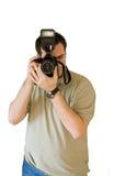 человек фотографируя детенышей Стоковое фото RF