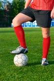 человек футбола поля шарика Стоковые Фото