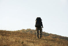 человек холма ap идя Стоковое Изображение
