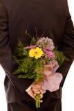 человек цветков стоковое фото