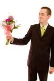 человек цветков стоковые фотографии rf