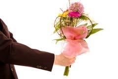 человек цветков стоковая фотография rf