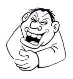 человек чертежа шаржа смеясь над иллюстрация вектора