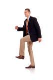 человек шагая вверх Стоковое фото RF
