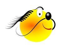 человек шаржа счастливый головной Стоковые Фотографии RF