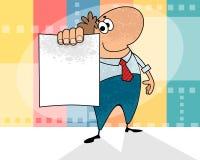 Человек шаржа с пробелом Стоковые Фотографии RF