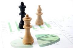 человек шахмат диаграммы дела сверх Стоковое фото RF