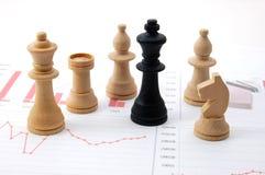 человек шахмат диаграммы дела сверх Стоковое Фото