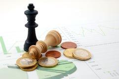 человек шахмат диаграммы дела сверх Стоковая Фотография RF