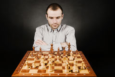 человек шахмат доски Стоковое Фото