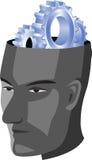 человек шестерни головной Стоковые Фото