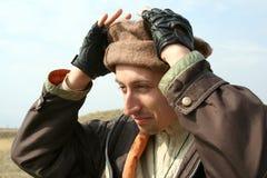 человек шлема Стоковое фото RF