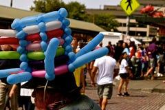 Человек шляпы воздушного шара Стоковое Изображение