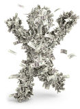 Человек дег. Moneybags Стоковое Изображение