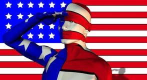 Человек 7 США Стоковые Изображения RF