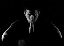 человек bowing Стоковое Изображение