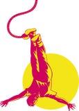 человек bungee скача иллюстрация штока