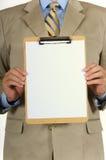 человек clipboard дела Стоковые Фотографии RF