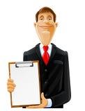 человек clipboard красивый Стоковая Фотография
