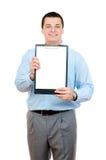 человек clipboard Стоковое Изображение RF
