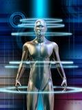 человек cyborg иллюстрация вектора