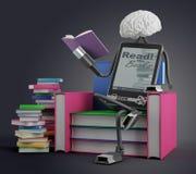 Человек EBook читает Стоковые Изображения