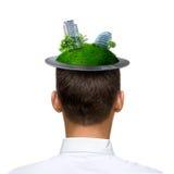 Человек Eco Стоковые Изображения