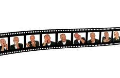человек filmframe выражений Стоковое Изображение