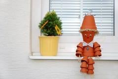 человек flowerpot Стоковое Изображение RF