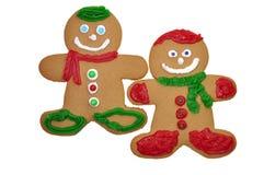 человек gingerbread печений Стоковое Фото