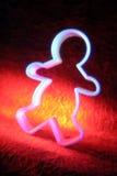 человек gingerbread резца печенья Стоковое Фото