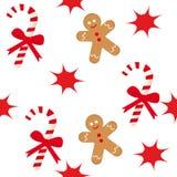 человек gingerbread тросточки конфеты Стоковые Изображения