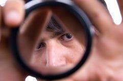 человек glimps стороны Стоковые Фотографии RF