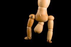 человек handstand деревянный Стоковые Фото